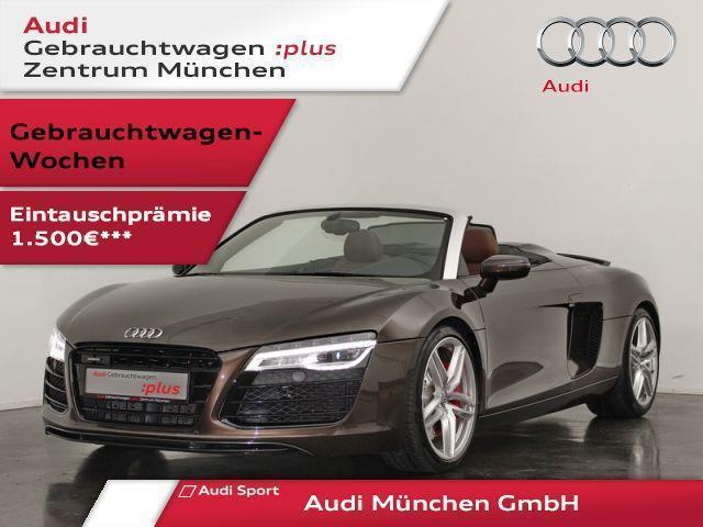 verkauft audi r8 spyder v8 4 2 fsi qu gebraucht 2015 km in eching. Black Bedroom Furniture Sets. Home Design Ideas