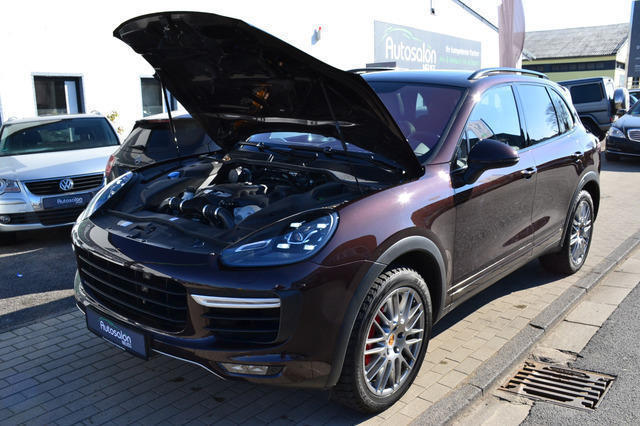 verkauft porsche cayenne turbo facelif gebraucht 2014. Black Bedroom Furniture Sets. Home Design Ideas