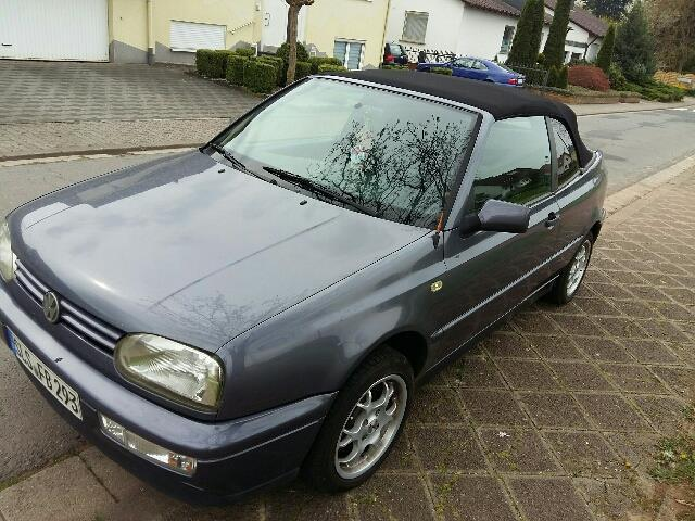 verkauft vw golf cabriolet cabrio 1 8 gebraucht 1996 km in lebach. Black Bedroom Furniture Sets. Home Design Ideas