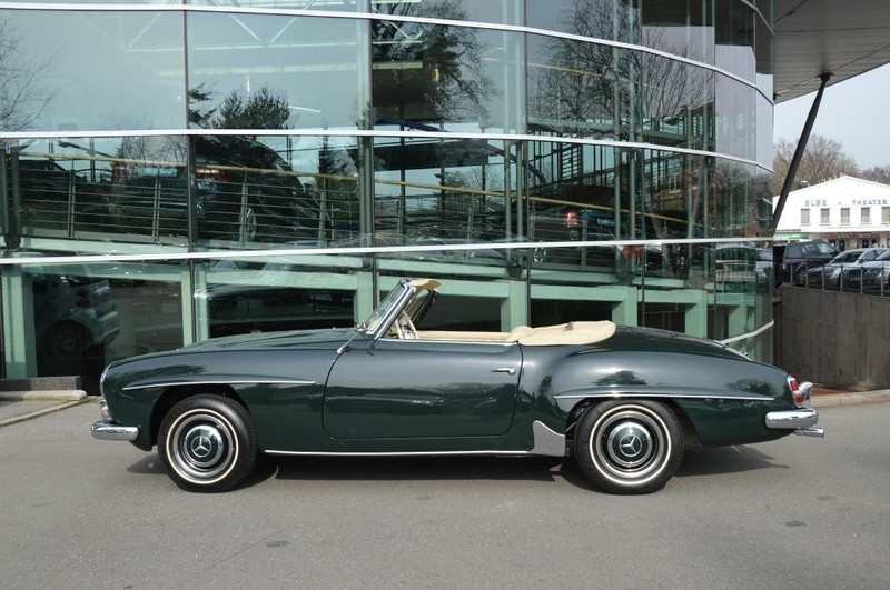 verkauft mercedes 190 sl gebraucht 1962 km in hamburg. Black Bedroom Furniture Sets. Home Design Ideas