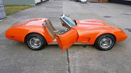 verkauft corvette c3 cabrio v8 orange gebraucht 1975 km in greifswald. Black Bedroom Furniture Sets. Home Design Ideas