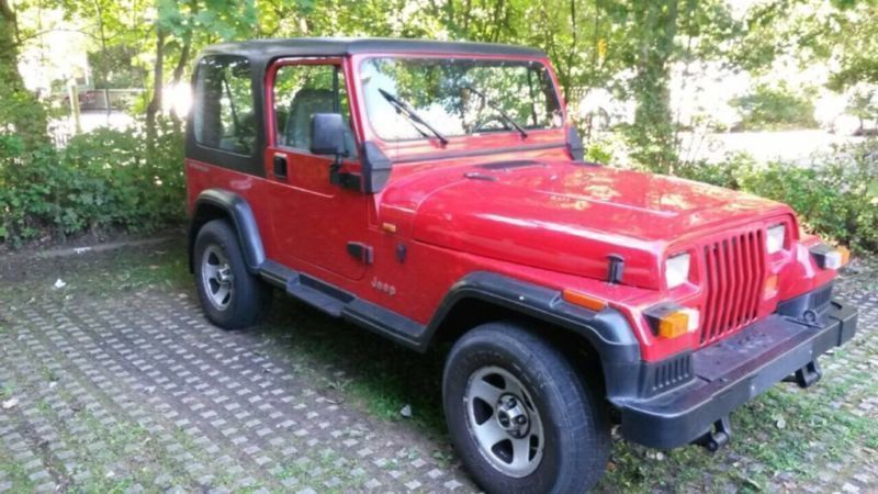 verkauft jeep wrangler 2 5 4x4 allrad gebraucht 1996 km in bochum querenburg. Black Bedroom Furniture Sets. Home Design Ideas
