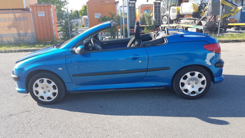 verkauft peugeot 206 cc cabriolet gebraucht 2002 km in augsburg. Black Bedroom Furniture Sets. Home Design Ideas