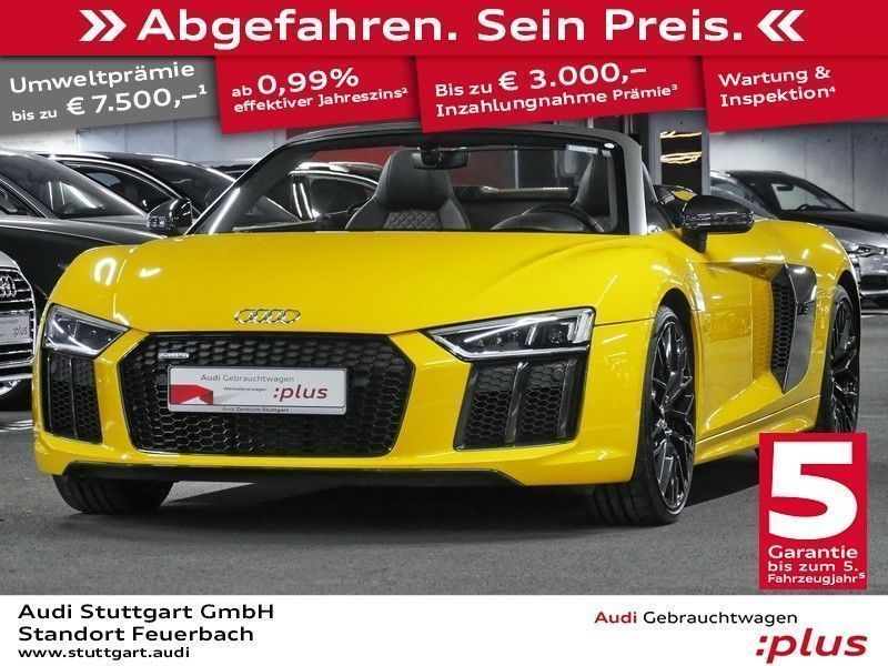 verkauft audi r8 spyder v10 5 2fsi qu gebraucht 2017. Black Bedroom Furniture Sets. Home Design Ideas