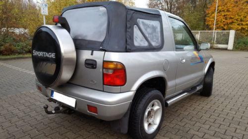 verkauft kia sportage 16v 4x4 cabrio t gebraucht 2002. Black Bedroom Furniture Sets. Home Design Ideas