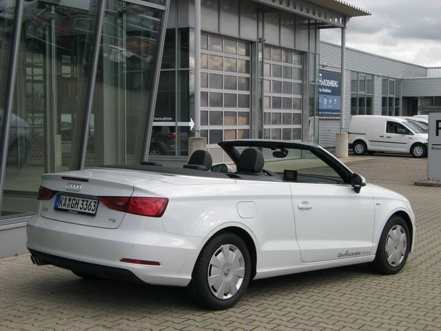verkauft audi a3 cabriolet 2 0 tdi amb gebraucht 2015 km in bruchsal. Black Bedroom Furniture Sets. Home Design Ideas