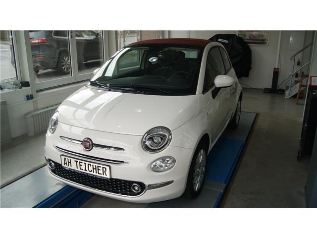 1 4 Gebraucht Fiat 500c Lounge Cabrio Klimaautomatik Weiß M Rotem Dach