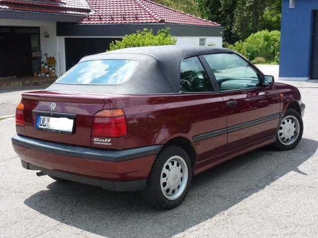 verkauft vw golf cabriolet cabrio 1 8 gebraucht 1996 km in ulm. Black Bedroom Furniture Sets. Home Design Ideas