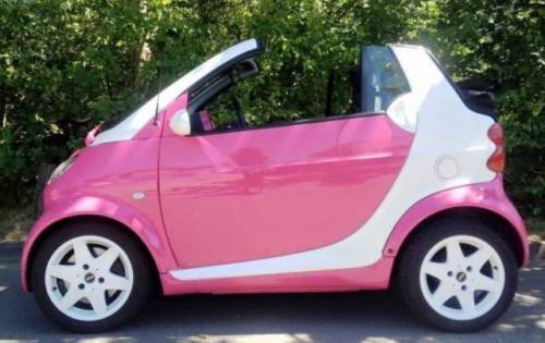 verkauft smart fortwo cabrio pink einz gebraucht 2002. Black Bedroom Furniture Sets. Home Design Ideas