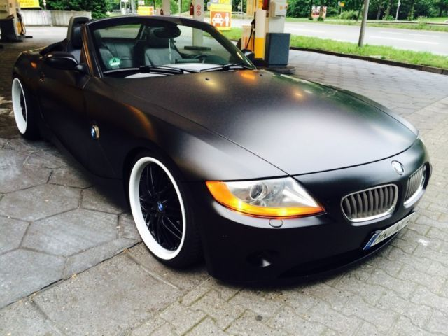 verkauft bmw z4 in mattschwarz prins gebraucht 2003. Black Bedroom Furniture Sets. Home Design Ideas