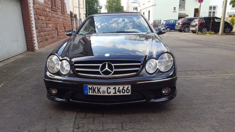 verkauft mercedes clk500 cabrio gebraucht 2004 km in frankfurt am main. Black Bedroom Furniture Sets. Home Design Ideas