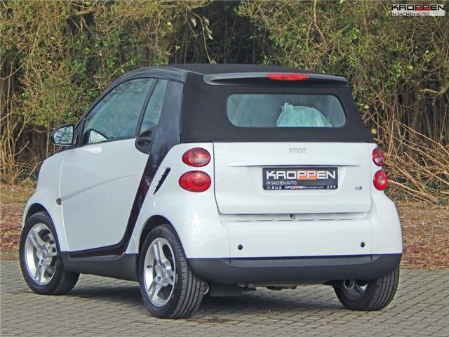 verkauft smart fortwo cabrio cdi pure gebraucht 2009. Black Bedroom Furniture Sets. Home Design Ideas
