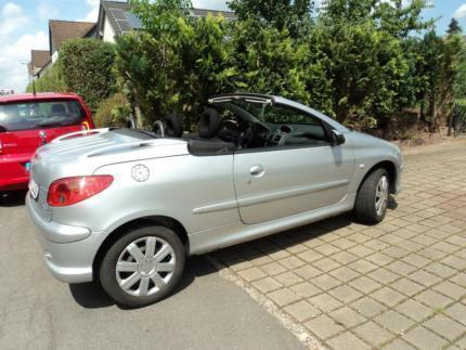 verkauft peugeot 206 cc cabrio gebraucht 2004 km in holzminden. Black Bedroom Furniture Sets. Home Design Ideas