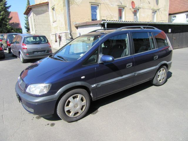 verkauft opel zafira 1 8 16v comfort gebraucht 1999 km in bergtheim. Black Bedroom Furniture Sets. Home Design Ideas