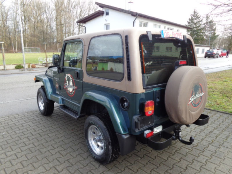 verkauft jeep wrangler 4 0 sahara gebraucht 2000 km in griesheim. Black Bedroom Furniture Sets. Home Design Ideas