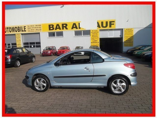 verkauft peugeot 206 cc cabriolet plat gebraucht 2001 km in garbsen hannover. Black Bedroom Furniture Sets. Home Design Ideas
