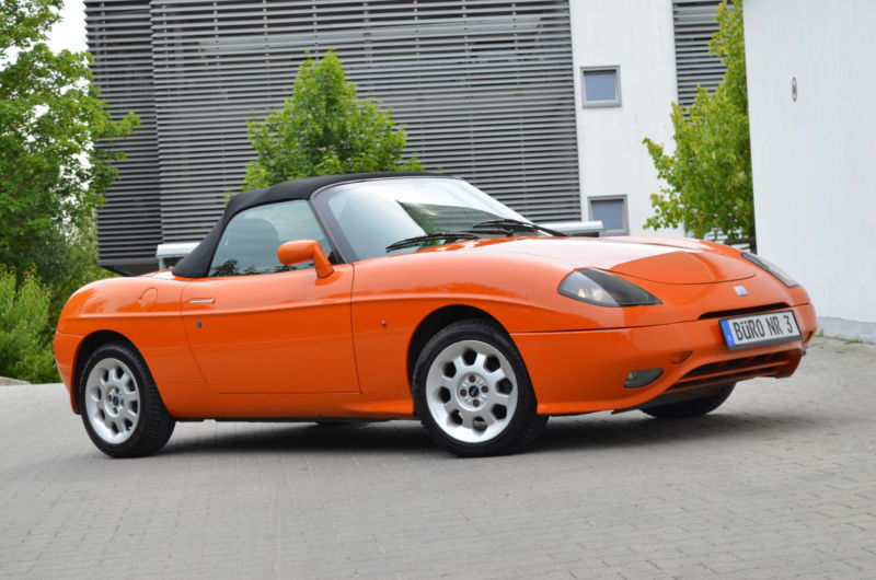 verkauft fiat barchetta orange gebraucht 1995 km in breitenthal. Black Bedroom Furniture Sets. Home Design Ideas