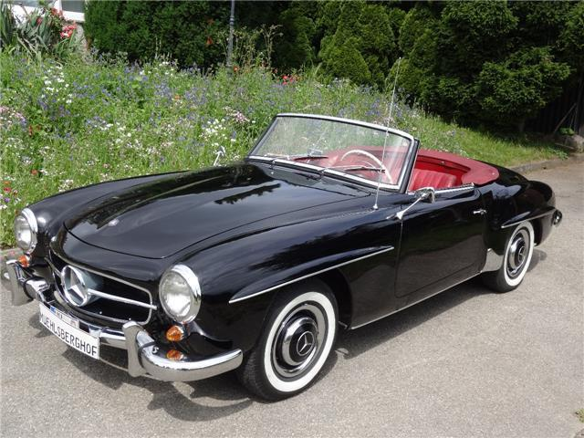 verkauft mercedes 190 sl matching num gebraucht 1958. Black Bedroom Furniture Sets. Home Design Ideas