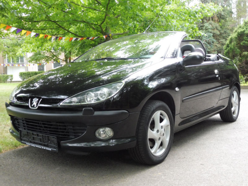 verkauft peugeot 206 cc cabriolet plat gebraucht 2003 km in berlin. Black Bedroom Furniture Sets. Home Design Ideas