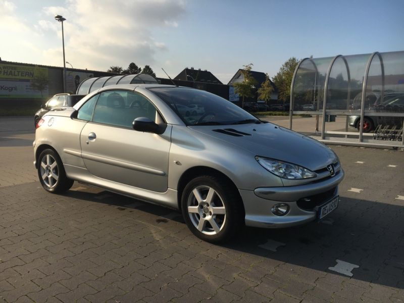 verkauft peugeot 206 cc 110 gebraucht 2005 km in haltern. Black Bedroom Furniture Sets. Home Design Ideas