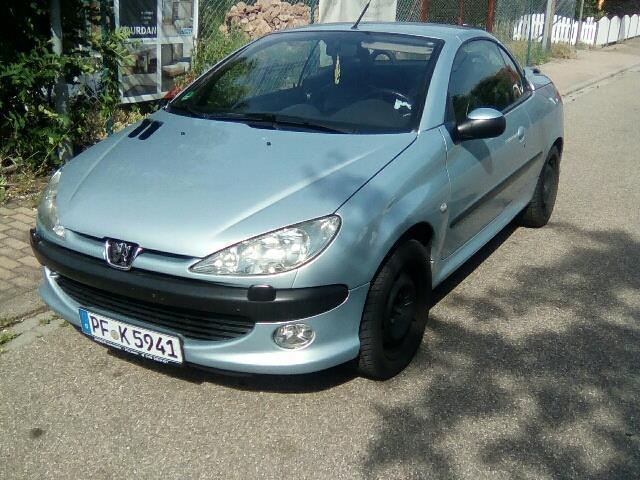 verkauft peugeot 206 cc 135 gebraucht 2001 km in neuhausen. Black Bedroom Furniture Sets. Home Design Ideas