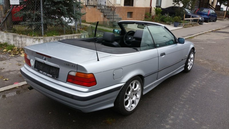 verkauft bmw 318 cabriolet gebraucht 1998 km in heilbronn. Black Bedroom Furniture Sets. Home Design Ideas