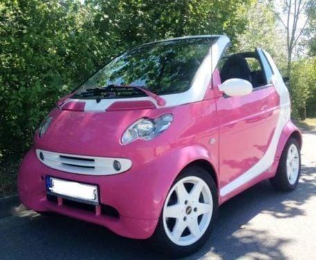 verkauft smart fortwo cabrio pink einz gebraucht 2002. Black Bedroom Furniture Sets. Home Design Ideas