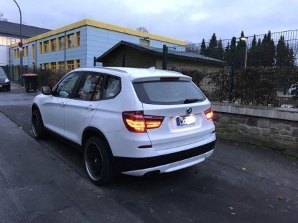 verkauft bmw x3 xdrive 20d 20 zoll fel., gebraucht 2012, 85.400 km