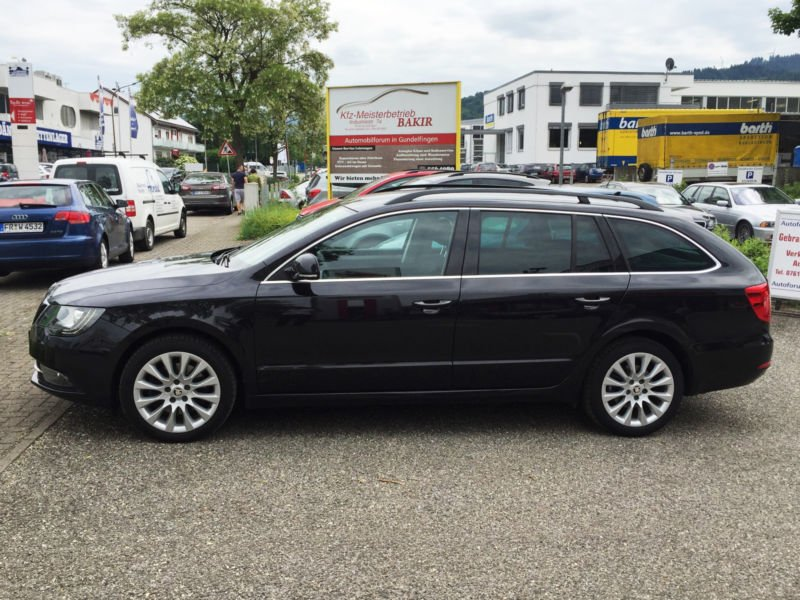 verkauft skoda superb combi 2 0 tdi el gebraucht 2014. Black Bedroom Furniture Sets. Home Design Ideas