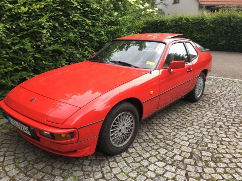 verkauft porsche 924 targa indisch rot gebraucht 1983. Black Bedroom Furniture Sets. Home Design Ideas