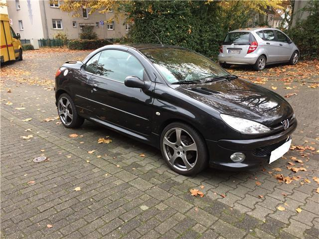 verkauft peugeot 206 cc 110 platinum gebraucht 2005 km in olfen. Black Bedroom Furniture Sets. Home Design Ideas