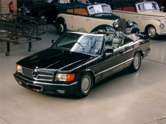 verkauft mercedes 500 sec w126c cabrio gebraucht 1984 km in stuttgart. Black Bedroom Furniture Sets. Home Design Ideas