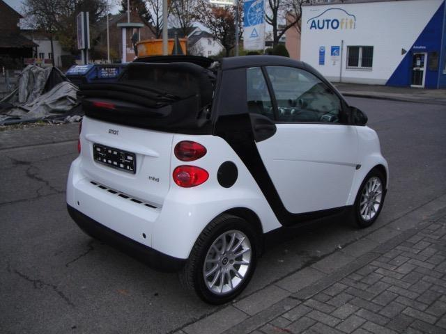 verkauft smart fortwo cabrio passion2h gebraucht 2009. Black Bedroom Furniture Sets. Home Design Ideas