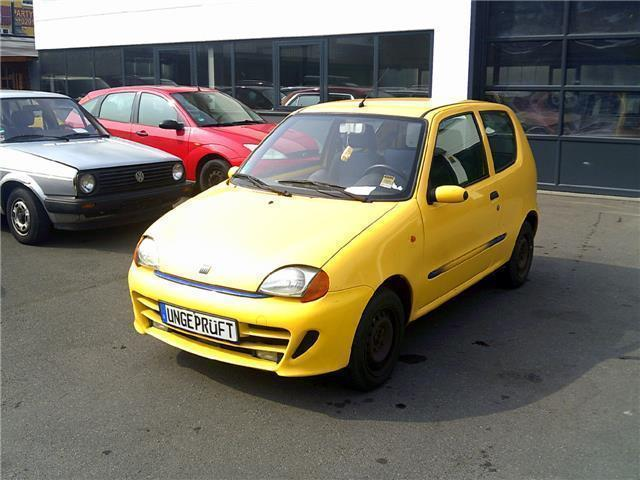 verkauft fiat cinquecento 1 1 sporting gebraucht 1998 km in essen. Black Bedroom Furniture Sets. Home Design Ideas