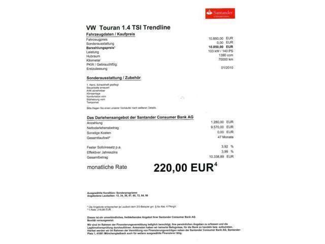 verkauft vw touran 1 4 tsi 1 hand st gebraucht 2010. Black Bedroom Furniture Sets. Home Design Ideas