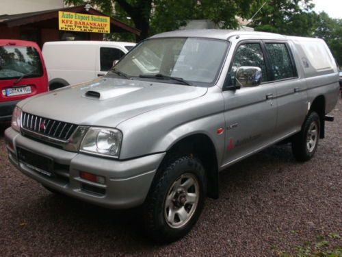 verkauft mitsubishi l200 pick up 4x4 g gebraucht 1999 km in altstadt. Black Bedroom Furniture Sets. Home Design Ideas
