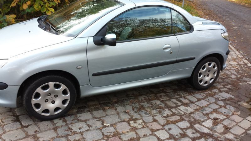 verkauft peugeot 206 cc cabriolet gebraucht 2002 km in hofheim. Black Bedroom Furniture Sets. Home Design Ideas