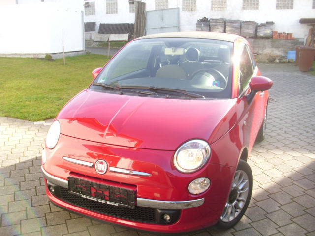 verkauft fiat 500 cabrio lounge finanz gebraucht 2011 km in bayern. Black Bedroom Furniture Sets. Home Design Ideas