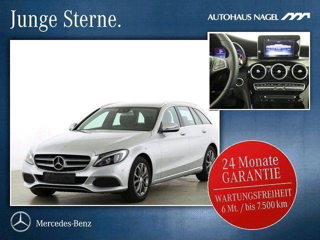 gebraucht Mercedes C220 T d Avantgarde 7G AHK LED Garmin Navi PTS