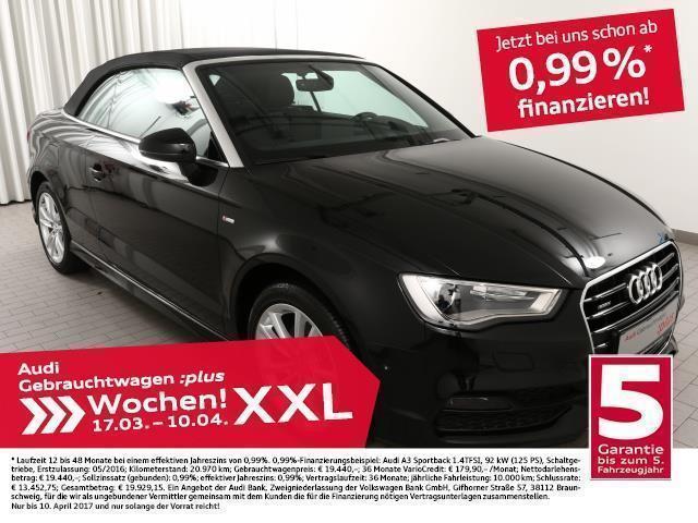 gebraucht Audi A3 Cabriolet 2.0TDI qu./S line/Kopfraumhzg./B+O (Navi