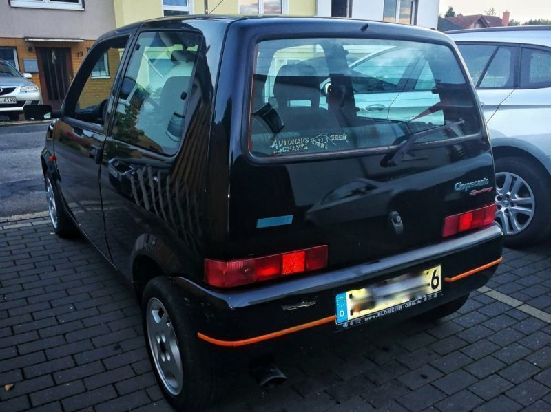 verkauft fiat cinquecento 1 1 sporting gebraucht 1997 km in seelze. Black Bedroom Furniture Sets. Home Design Ideas