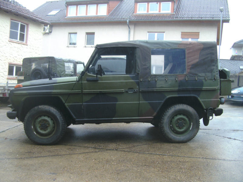 gebraucht wolf bundeswehr cabrio top mercedes g250 1990 km in m ser. Black Bedroom Furniture Sets. Home Design Ideas