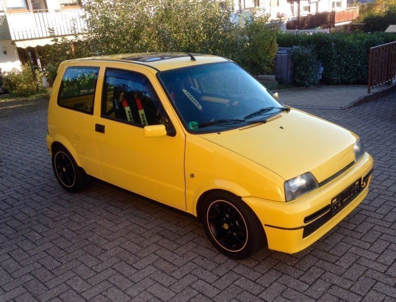 verkauft fiat cinquecento 1 1 sporting gebraucht 1996 km in essen. Black Bedroom Furniture Sets. Home Design Ideas