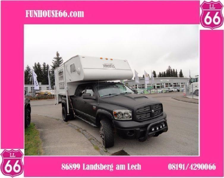 gebraucht 3500 mega cab dually mit truckcamper voll dodge ram 2008 km in landsberg. Black Bedroom Furniture Sets. Home Design Ideas