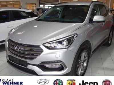 used Hyundai Santa Fe blue 2.2 CRDI 4WD Automatik Premium *Leder, Navi,