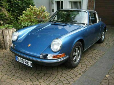 gebraucht Porsche 911 Targa Blau Metallic Schaltgetriebe 165 HP
