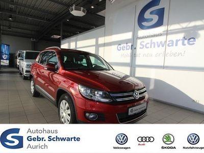 "gebraucht VW Tiguan 1.4 TSI Lounge AHK Navi Shzg LM 17"" GRA"
