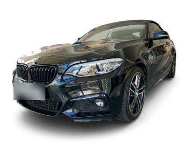 gebraucht BMW 220 i M Sport Cabrio EU6d-T Leder LED Navi Kurvenlicht Rückfahrkam. Fernlichtass. Sportsitze