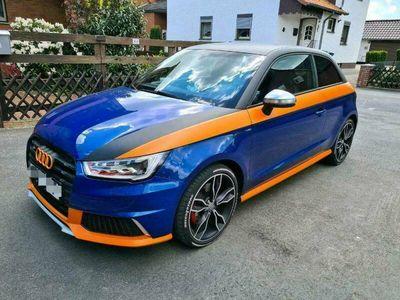 gebraucht Audi S1 2.0 231PS blau/schwarz/orange Bose