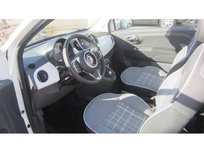 gebraucht Fiat 500 Cabrio Lounge 1,2 Weiss-Rot mit NAVI